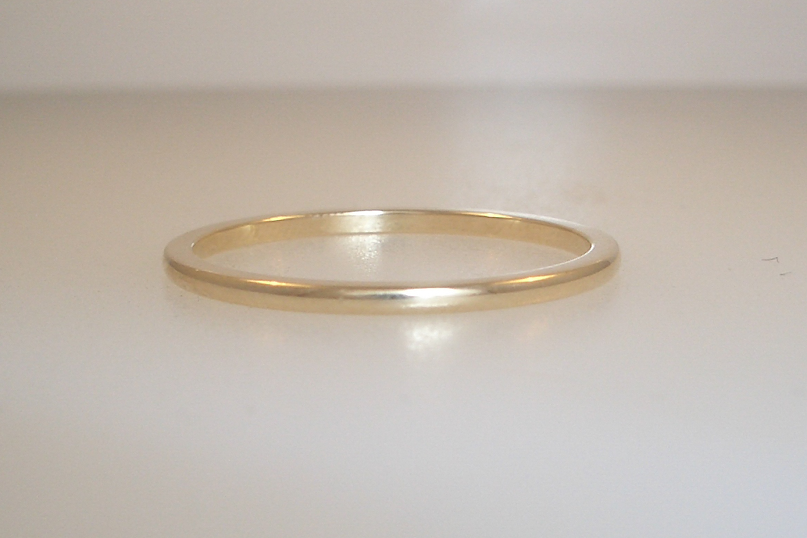 14k Yellow Gold Simple Band