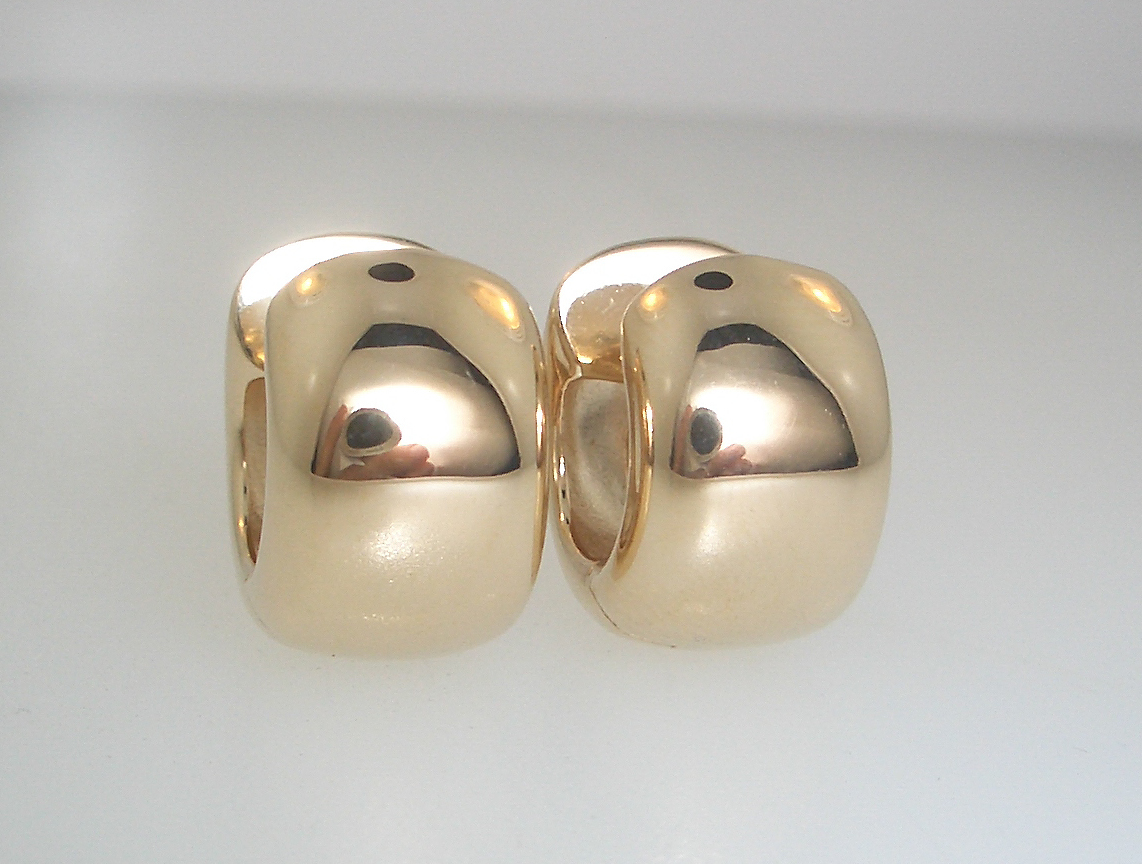 Chunky Solid Gold Hoops