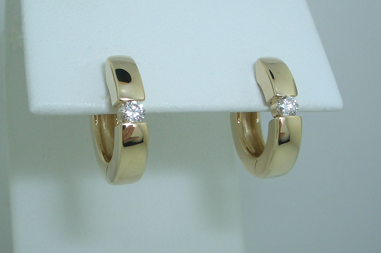 Diamond Accented Hoops