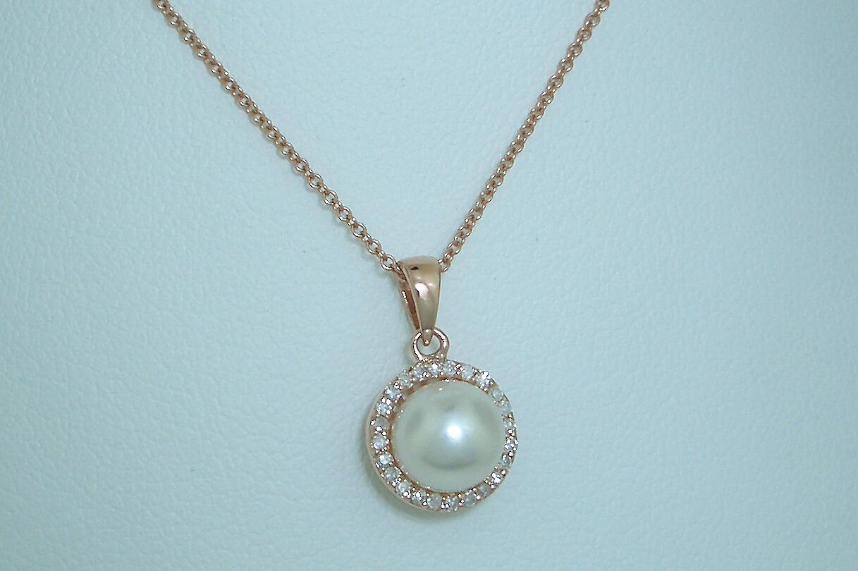 Halo Style Pearl Pendant