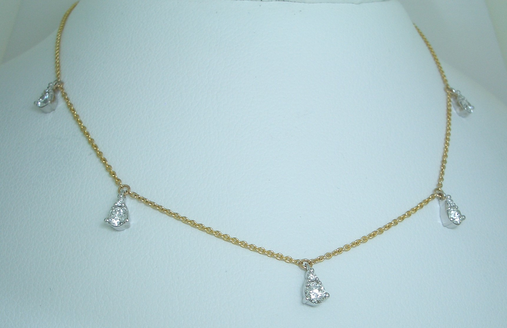Station Style Diamond Necklace