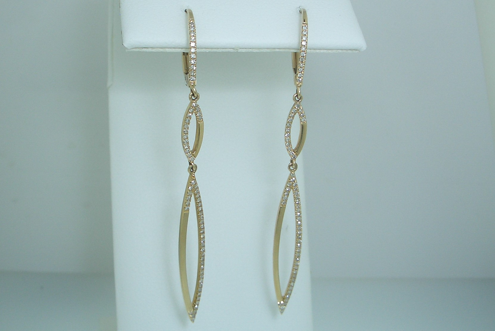 Yellow Gold and Diamond Dangles
