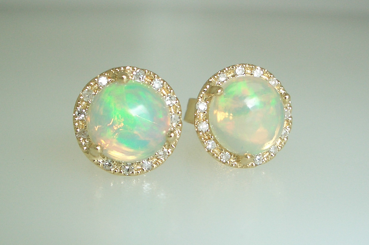 Diamond Halo Opals
