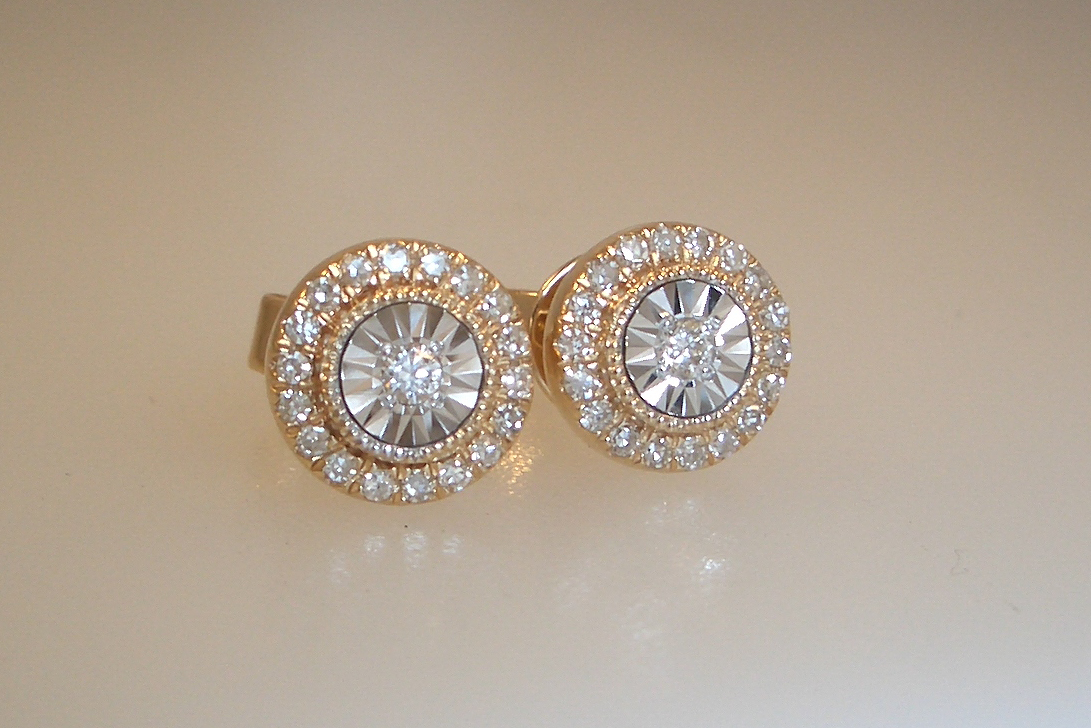Kaleidoscope Diamond Studs
