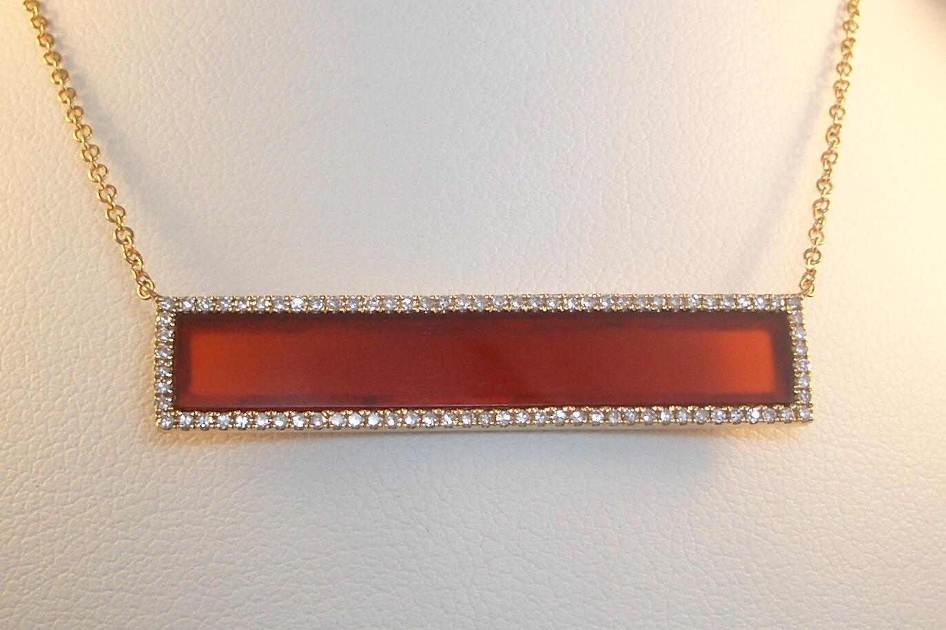 Carnelian Bar Pendant