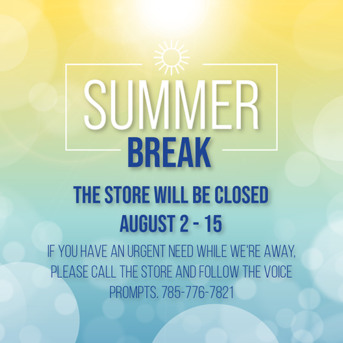 store closed august 12-15, 2021